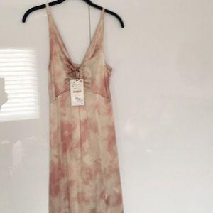 Zara Tie-Dye Satin Dress
